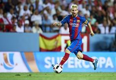 Lionel Messi Photos - Lionel Messi of FC Barcelona in action during the match…