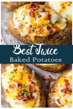 Frugal Food Items - How To Prepare Dinner And Luxuriate In Delightful Meals Without Having Shelling Out A Fortune This Is The Best Twice Baked Potatoes Recipe And I'm Going To Tell You Exactly How To Make It. This Creamy, Cheesy, Crispy Twice Baked Potato Double Baked Potatoes, Best Twice Baked Potatoes, Stuffed Baked Potatoes, Crack Potatoes, Twice Baked Potatoe Recipe, Loaded Baked Potatoes, Twice Baked Potato Casserole, Double Stuffed Potatoes, Loaded Potato