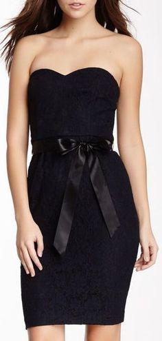 Strapless Lace Dress ♥ #lbd