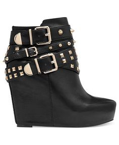 BCBGeneration Boots, Aspen Studded Wedge Booties - Boots - Shoes - Macy's