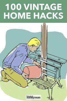 100 Vintage Home Hacks Truck Camper, Home Improvement Projects, Home Projects, Diy Home Repair, Home Repairs, Useful Life Hacks, Woodworking Tips, Tricks, Cleaning Hacks