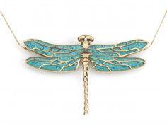 Turquoise Dragonfly pendnat by Adina Plastelina.