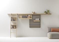 Zutik is a minimalist design created by France-based designer Alki. Zutik is a complete system organized along a horizontal solid oak beam. (4)