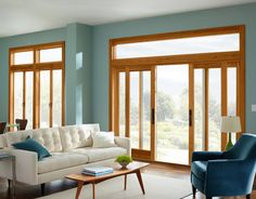 LOVE the color, the furniture, the style, and those windows! Marvin Windows and Doors Photo Gallery -