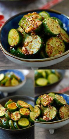 Asian Cucumber Salad - healthy cucumber salad with Asian spices. So refreshing and easy. A perfect appetizer for any meals. Asian Cucumber Salad, Cucumber Recipes, Veggie Recipes, Vegetarian Recipes, Cooking Recipes, Healthy Recipes, Cucumber Ideas, Cucumber Salad Dressing, Cucumber Kimchi