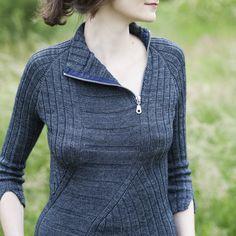 Ravelry: Asselchen's Shifter knit pullover sweater zipper