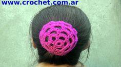 Redecilla para rodete del cabello en tejido crochet tutorial paso a paso.