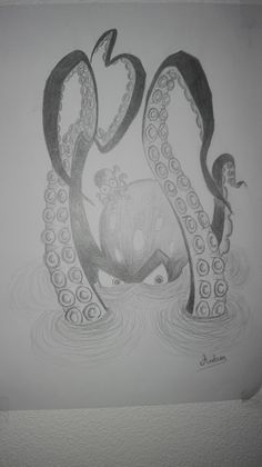 octopus drawing Octopus Drawing, Drawings, Ideas, Octopus Sketch, Sketches, Drawing, Portrait, Thoughts, Draw