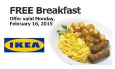 IKEA: Free breakfast on Monday!