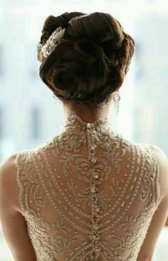 Wedding dress back.