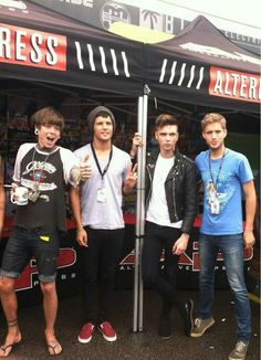 Christopher drew, Devin Oliver, Andy biersack, and Brian