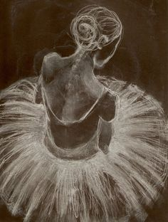 oil pastel on black canvas ballet - Google Search
