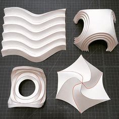#making #samples for #teaching #origami #curved #pleats #circles #spiral #swirl…