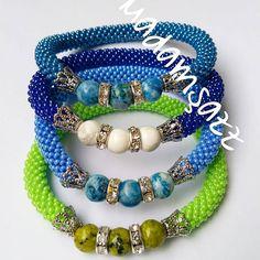 Sipariş için whatsapp veya dm 😉 #elyapımı #boncuk #bileklik #madamşazz #boncukbileklik #elemeği  #bead #beadedbracelets #mavi #sipariş #yaz… Beaded Necklace, Beaded Bracelets, Bead Crochet, Beaded Embroidery, Jewelery, Beads, Handmade, Pearl Necklaces, Bangles