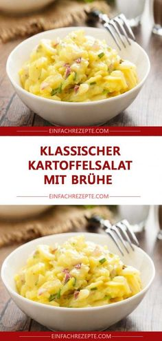Classic potato salad with broth ? Informations About Klassischer Kartoffelsalat mit Brühe ? Salad Recipes For Dinner, Healthy Salad Recipes, Easy Recipes, Easy Salads, Easy Meals, Classic Potato Salad, Dried Beans, Greens Recipe, How To Make Salad