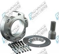 50-0220 : Dodge NV4500 4wd with 29 spline output shaft to Ford NP205 transfer case, adapter kit.