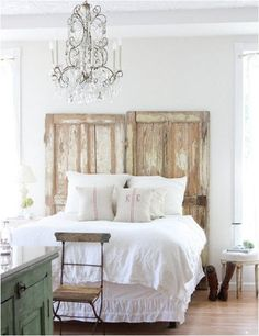 dreamy-whites-salvage-door-headboard.jpg  I love these doors!