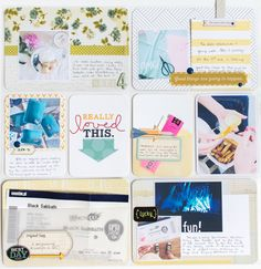 PL week 4 for Gossamer Blue #projectlife #scrapbook
