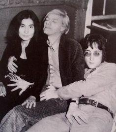 Ono, Warhol, Lennon. All touchy.