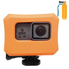 Floaty Case, Orange for GOPRO Black Silver White Hero 6 Hero 5 FL *** Learn more by visiting the image link. (This is an affiliate link) Gopro Case, Hero 6, Image Link, Orange, Silver, Black, Black People, Money