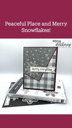 December Holidays, Christmas Card Crafts, Peaceful Places, Masculine Cards, Stamping Up, Flower Cards, Stampin Up Cards, Are You The One, Snowflakes