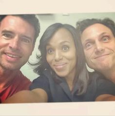 Selfie Sunday with our favorite Scandal trio...Jake, Olivia and Fitz.