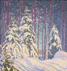 Lawren Harris, Winter Sunrise. Happy we have snow today!