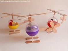 60 Easy and Beautiful Homemade Christmas Ornament Ideas - Crafts For Boys Crafts For Boys, Projects For Kids, Diy For Kids, Craft Stick Crafts, Fun Crafts, Helicopter Craft, Recycling For Kids, Ideias Diy, Homemade Toys