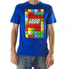 Lego Building Blocks Mens Blue Tee #LEGO #BRicks #TeeShirt #Adult $24.00