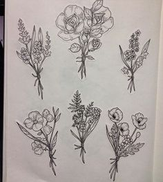 ideas for flowers bouquet tattoo drawing Foot Tattoos, Forearm Tattoos, Flower Tattoos, Body Art Tattoos, Girl Tattoos, Small Tattoos, Tattoos For Guys, Tattoos For Women, Cross Tattoos