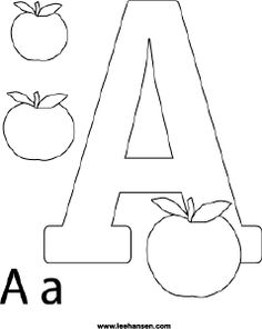 alphabet coloring printable letter a apple coloring sheet printable