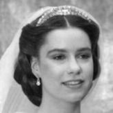 Royal Bride Maria Teresa of Luxembourg wering the Kongo diamanten tiara/collier on her wedding day