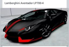 Lamborghini Aventador Matte Black And Red Quite Possibly The Hottest Thing