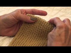 How to Pick Up Dropped Stitches in Garter Stitch - YouTube