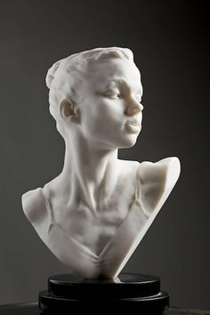 For Sale on - Katherine Bust, Marble Dust, Resin, Marble by Richard MacDonald. Offered by Dawson Cole Fine Art. Sculpture Head, Concrete Sculpture, Roman Sculpture, Abstract Sculpture, Metal Sculptures, Bronze Sculpture, Sculpture Portrait, Sculpture Garden, Marble Bust