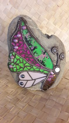 Mosaic and stained glass butterfly