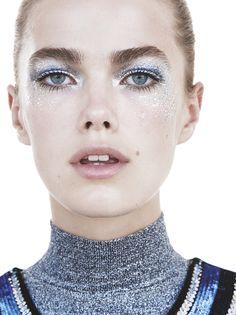 Elle Sweden December Mathilde Brandi by Henrik Bulow. Body Makeup, Eye Makeup, Hair Makeup, Lund, Kelly Carlson, Catwalk Makeup, Beauty Salon Interior, Models Makeup, Arte Popular