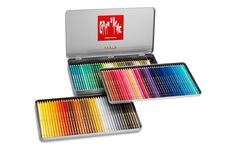 Caran D'Ache Pablo artists quality colouring pencils tin set of 120 assorted water resistant colours: Amazon.co.uk: Office Products