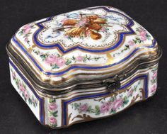 A Small Sevres Porcelain Box And Cover.