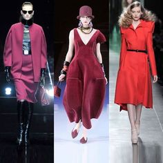 A girl can never have too much pink!  Give pink a new twist and experiment with shades of wine, burgundy and red, straight from the international ramps!
