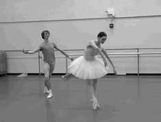"Olga Smirnova and Semyon Chudin rehearsing 'Diamonds' from Balanchine's ""Jewels""."