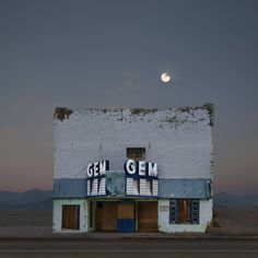 Buy Gem Theater, Pioche Nevada. Edition 10 of 50, a Color Photography on Paper, by Ed Freeman from United States, For sale, Price is $570, Size is 15 x 15 x 0.2 in.