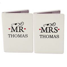 dd66b79d80d Personalised Passport Cover - MR   MRS Passport Covers Wedding Anniversary  Gifts