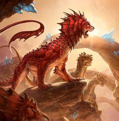 Regal Leosaur by Ilse Gort. Monster Concept Art, Alien Concept Art, Creature Concept Art, Monster Art, Mythical Creatures Art, Magical Creatures, Fantasy Creatures, Curious Creatures, Weird Creatures