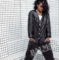Balmain Spring/Summer 2014 campaign featuring Rihanna. Photographed by Inez van Lamsweerde and Vinoodh Matadin.
