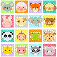 Ambesonne Baby Toddlers Room Decor Collection, Zoo Animal Faces Print on Polka Dot Background Cartoon Style Manga, Window Treatments for Kids Bedroom Curtain 2 Panels Set, Inches, White Teal Cartoon Styles, Cute Cartoon, Mode Country, Toddler Room Decor, Polka Dot Background, Baby Faces, Animal Faces, Free Vector Art, Diy And Crafts
