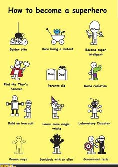 How to become a superhero...