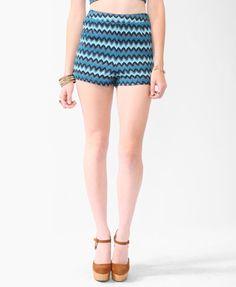 Forever 21 High Rise Zigzag Shorts