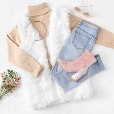 To find out about the Faux Fur Vest at SHEIN, part of our latest Outerwear ready to shop online today! Girls Fashion Clothes, Winter Fashion Outfits, Look Fashion, Fall Outfits, Steampunk Fashion, Gothic Fashion, Girly Outfits, Mode Outfits, Cute Casual Outfits