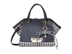 ZAC Zac Posen Eartha Iconic Small Double Handle with Gingham Straw at 6pm.com